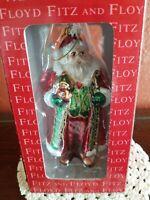 🎅 Fitz And Floyd Jolly Old St. Nick Christmas tree ornament, Santa~NIB