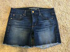 American Eagle Jeans Shorts Sz 14 Denim *Boy Midi* Cut-off ADORABLE!