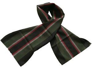Paul Smith Stripe Scarf- Green/Black/Red/Grey MAINLINE 135 x 30 cm