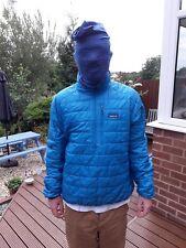 Patagonia mens primaloft half zip jacket. Size large . No rips or tears . Blue