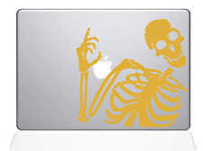"Decal Guru 2079-MAC-13A-SY Skeleton Waves Hi Decal Vinyl Sticker, Yellow, 13"" M"