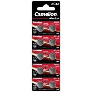 10 Piles AG13 / LR44 / LR1154 / 1166A Camelion Alcaline 1,5V