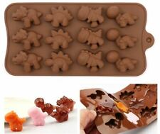 12 Cell Cavity Dinosaurs Chocolate Candy Professional Silicone Mould UK Seller