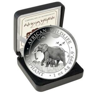 2021 Somalia Elephant Chicago ANA Privy 1 oz silver coin *Presale*