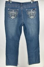 Angels Jeans Boot Cut Bootcut Womens Stretch Sz 14 Meas. 35x33 Medium Wash
