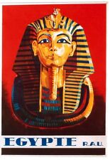 Original vintage poster EGYPT PHARAON SCULPTURE c.1950