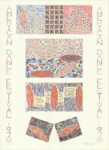 JENNIFER BARTLETT American Dance Festival 1978 SIGNED 31 x 23 Lithograph 1978 Mo