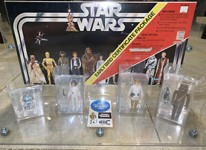 """MIX /& MATCH 70 SMALL CLEAR Figure Display Stands 1/"""" NEW Star Wars Vintage"""
