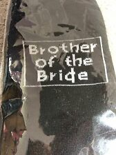Personalised wedding socks - BROTHER OF THE BRIDE in black - size 6-12 - BNWT