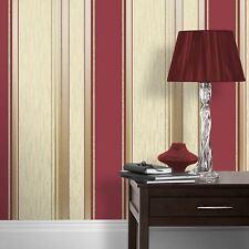 Synergy papier-peint rayé rouge Riche - VYMURA m0803 BRILLANT PAILLETTE