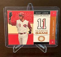 2003 Fleer Barry Larkin Numbers Game Jersey Relic Insert Cincinnati Reds HOF SS