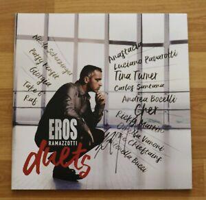 """ORIGINAL Autogramm von Eros Ramazzotti. VINYL 12"""". """"EROS DUETS"""". 2017. SELTEN"""
