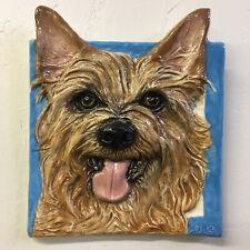 New ListingAustralian Terrier Dog Tile Handmade Pet Portrait Ceramic Sondra Alexander Art