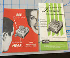 2 Vintage 1952 PENTRON Chicago DUO-SPEED REEL TAPE RECORDER Brochures photo