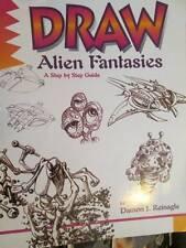 Lot of 2 Drawing Books -Alien Fantasies & Garfield & The Gang