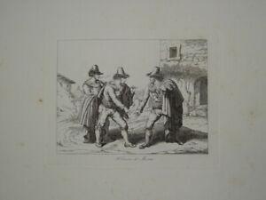 B.PINELLI (1781-1835) GRAVURE VOYAGE ROME ROMA CONTREBANDE ITALIE ITALIA 1820 ac
