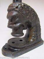 Beast Head Antique Cast Iron ToC Embosser Paperweight Doorstop Decorative Art