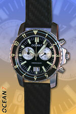 OCEAN7 LM-5CQ Chronograph Quartz Watch, Black Dial, New in Box!