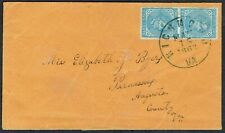More details for confederate : 1863 vertical pair 5c blue on richmond va cover