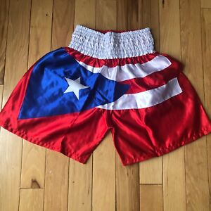Puerto Rico Flag Boxing, Training, Athletic, Fitness MMA Grappling Sports Shorts
