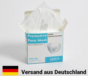 10 Stk FFP2 Maske zertifiziert Mundschutz Masken Gesichtsmaske Atemschutz Filter