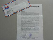 KURIEN VALIAKANDATHIL (BISCHOF Bhagalpur in Indien) signed 20x30 Brief + Stempel