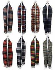 Viyella - Mens Ladies Long Warm Wool Cashmere Scottish Tartan Style Winter Scarf