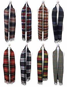 Viyella - Mens Ladies Long Warm Wool Cashmere Scottish Tartan Style Winter Scarf