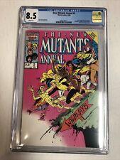 New Mutants Annual (1986) # 2 (CGC 8.5 WP) 1st US App Psylock !