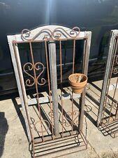 2 Wrought Iron flower window box Plant Pot Holder Wall Decor Vintage