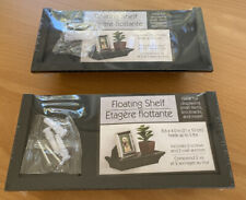 (New) Set of 2 Floating Shelf 8.6 X 4, Holds Up To 5 Lbs, Black, Display, Pvc