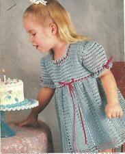*Toddler's Precious Pet Dress crochet PATTERN INSTRUCTIONS