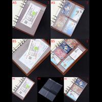 A5 / A6 Hoja Suelta de Plástico Transparente PVC Bolsa Almacenamiento Colecc*ws