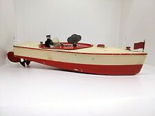 Vintage USSR Soviet Tin Toy Boat 50's Leningrad Toy Plant. Super Rare!!! Working
