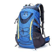 Blue Rucksack Backpack 35L Waterproof Internal Frame Hiking Running Cycling Bag