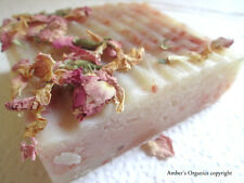 Organic Pink Sandalwood Rose Petal Handcrafted Soap -  Infused Shea Butter Bar