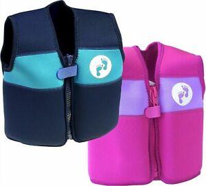 Two Bare Feet Buoyancy Aid Jacket Vest Kids Babies Blue/Pink