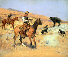 His Last Stand  by Frederic Remington   Giclee Canvas Print Repro