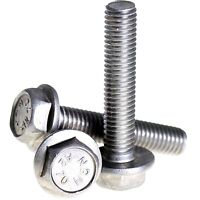 ZINC PLATED YELLOW PASSIVATED FLANGE HEXAGON HEX HEAD METRIC BOLTS DIN 6921 M8