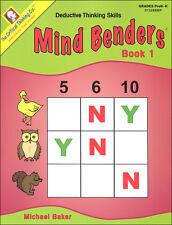 Critical Thinking - Mind Benders Book 1 (Gr. Pre K-K)