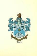 *Great Coat of Arms Hall Family Crest genealogy, would look great framed!