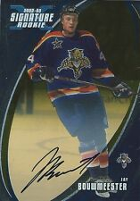 (HCW) 2002-03 BAP Signature Series Gold JAY BOUWMEESTER RC Auto Rookie UD 00334