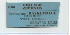 scarce....1962 CHICAGO ZEPHYRS NBA ticket stub Coliseum ..before the BULLS !