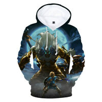 The Legend of Zelda Breath of the Wild Unisex Adult Casual Hoodie Sweatshirt