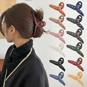 UK Hair Clips for Women Strong Large Traditional Clip Claw Jaw Clamp Grip Thick