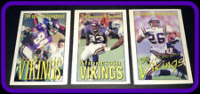 LOT OF 3 DIFFERENT MINNESOTA VIKINGS FOOTBALL POCKET SCHEDULES 1996 1998 1999