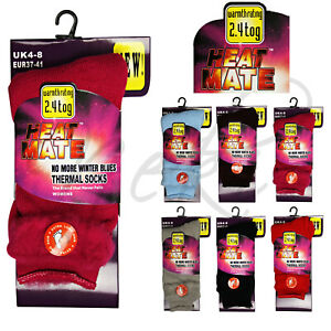 Ladies Thick Thermal Socks Heat Mate Warm Winter Thermal Socks Pink All Colours
