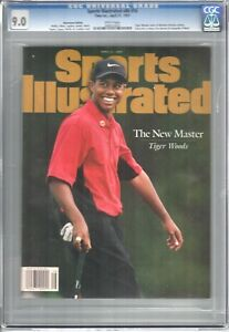 Tiger Woods  SPORTS ILLUSTRATED Masters  April 21, 1997 Newsstand CGC 9.0 White
