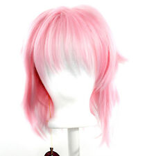 13'' Shaggy Messy w/ Long Bangs Cotton Candy Pink Visual Kei Cosplay Wig NEW
