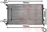 Kühler, Motorkühlung für Kühlung VAN WEZEL 58002204